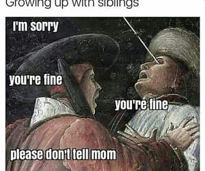 funny and siblings image