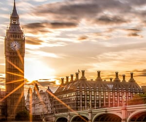 london, sunset, and england image