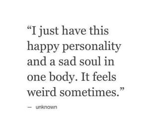 quotes, sad, and happy image