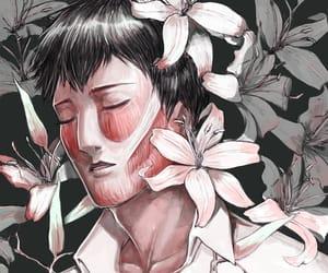 anime, flowers, and fanart image
