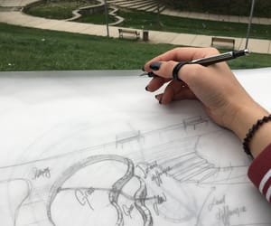 architecture, hand, and nature image