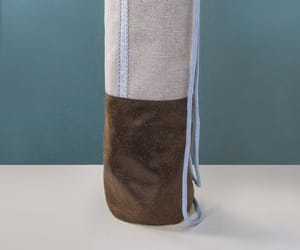 bag, leather, and yoga mat image