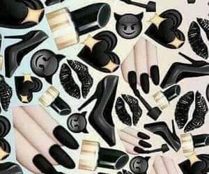 black, wallpaper, and emoji image
