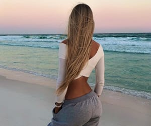 beach, beauty, and blonde image