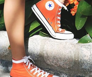 orange, converse, and aesthetic image