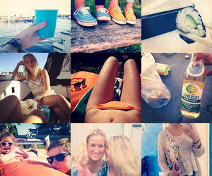 drunk, summer, and friends image