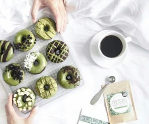 coffee, donuts, and gren image