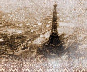 vintage, paris, and sepia image