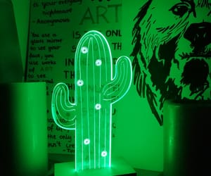 art, cactus, and green image