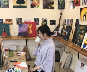 art, asian, and canvas image