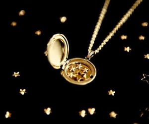 gold, necklace, and stars image