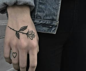 black, boy, and tattoo image