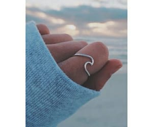 ring, beach, and ocean image