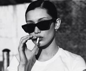 bella hadid, model, and cigarette image