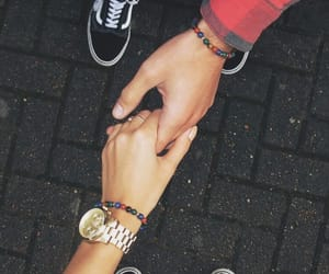 adorable, couple, and hands image