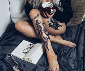books, inked, and style image