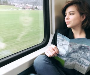 map, travel, and train image