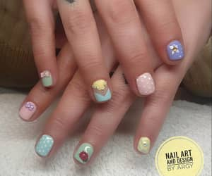 manicure, pastel colors, and spring nail art image