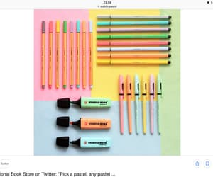 pens, stabilo, and highlighter. image