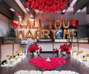 love, rose, and proposal image