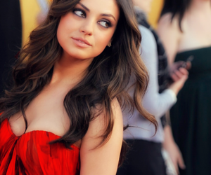 Mila Kunis, red, and pretty image