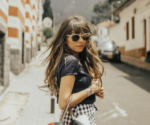 brunette, calle, and street image