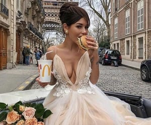 girl, dress, and paris image