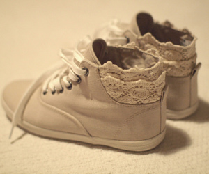 shoes, lace, and sneakers image