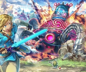 guardian, link, and the legend of zelda image