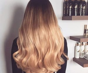 beautiful, blond, and ombre image