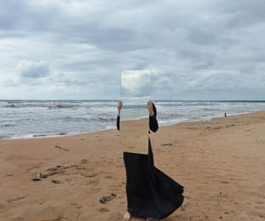 mirror and beach image