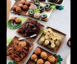 donuts, doughnuts, and green image