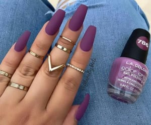 nails, jewelry, and nail polish image