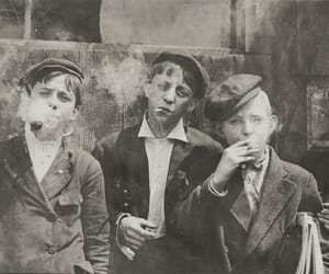 boy, smoke, and black and white image