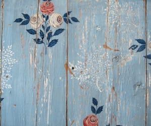 flowers, blue, and vintage image
