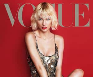 Taylor Swift, vogue, and red image