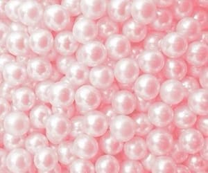 pink, pearls, and aesthetic image