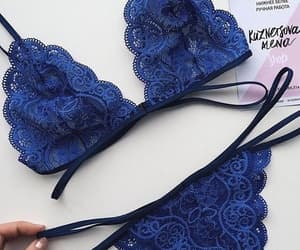 lingerie, blue, and fashion image
