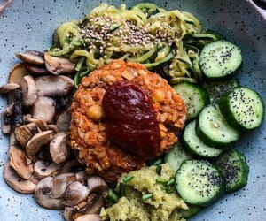 burger, cucumber, and fitness image