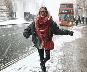 style, girl, and snow image