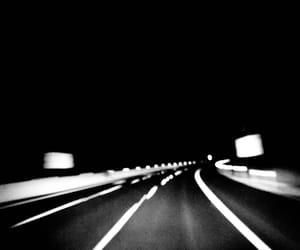 b&w, black, and night image