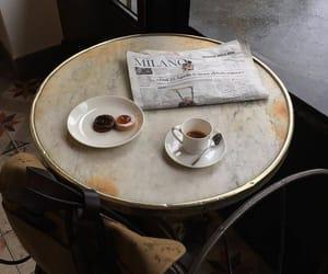 coffee, food, and newspaper image