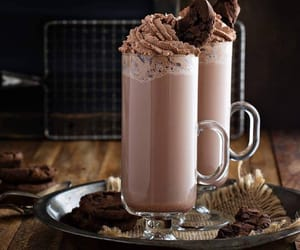 chocolate, cookie, and drinks image