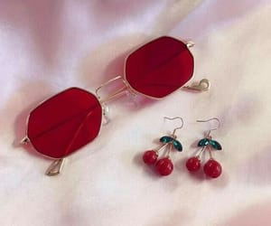 red, cherry, and fashion image