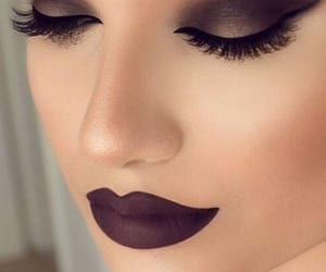 dark brown, eyes, and lips image