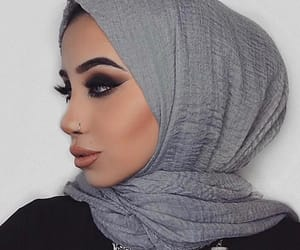 beauty, flawless, and hijab image