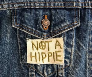 etsy, not a hippie, and iron on patch image