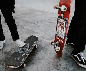 skateboard, vans, and alternative image