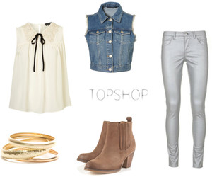 blouse, boots, and bracelets image
