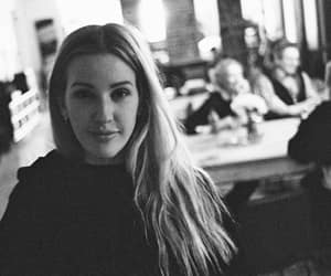 beauty, black and white, and Ellie Goulding image